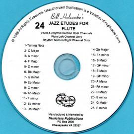 24 Jazz Etudes for Flute (Audio Download)