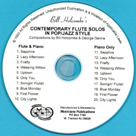 Contemporary Flute Solos in Pop/Jazz Style (Audio Download)