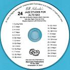 24 Jazz Etudes for Alto Sax (Audio Download)