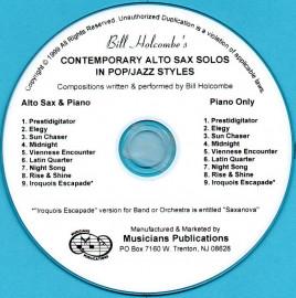 Contemporary Alto Sax Solos in Pop/Jazz Style (Audio Download)