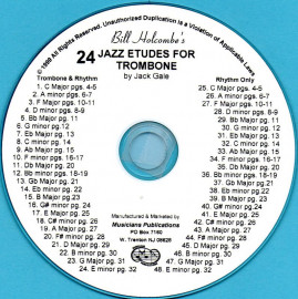 24 Jazz Etudes for Trombone or Baritone Horn (Audio Download)