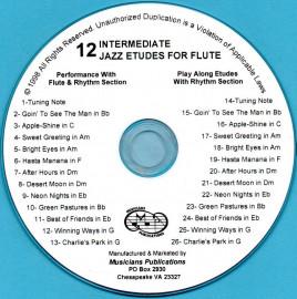 12 Intermediate Jazz Etudes for Flute (Audio Download)