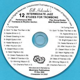 12 Jazz Etudes for Trombone (Audio Download)