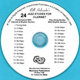 24 Jazz Etudes for Clarinet (Audio Download)