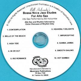 Boss Nova Jazz Etudes for Alto Saxophone (Audio Download)