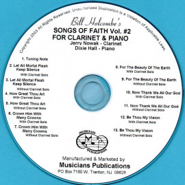 Songs of Faith for Clarinet and Piano, Volume 2 (Audio Download)