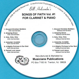 Songs of Faith for Clarinet and Piano, Volume 1 (Audio Download)