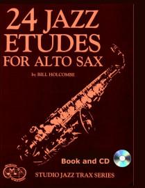 24 Jazz Etudes for Alto Saxophone (Book and CD)