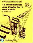 12 Intermediate Jazz Etudes for Two Alto Saxophones (Book and CD)