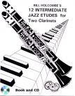 12 Intermediate Jazz Etudes for Two Clarinets (Book and CD)