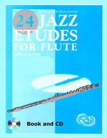 24 Jazz Etudes for Flute (Book and CD)