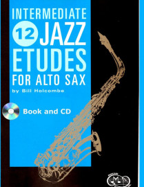 12 Intermediate Jazz Etudes for Alto Saxophone (Book and CD)