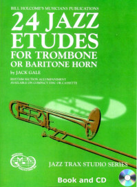 24 Jazz Etudes for Trombone or Baritone Horn (Book and CD)