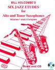 12 Intermediate Jazz Etudes for Alto and Tenor Saxophone (Book and CD)
