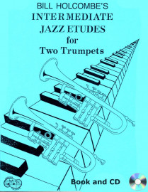 12 Intermediate Jazz Etudes for Two Trumpets (Book and CD)