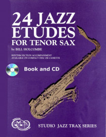 24 Jazz Etudes for Tenor Saxophone (Book and CD)