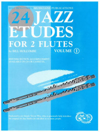 24 Jazz Etudes for 2 Flutes (Vol. 1) - Book only
