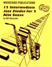 12 Intermediate Jazz Etudes for Two Alto Saxophones
