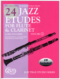 24 Jazz Etudes for Flute and Clarinet, Vol. 1 (Book W/CD)