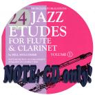 24 Jazz Etudes for Flute and Clarinet, Vol. 1 (CD Alone)
