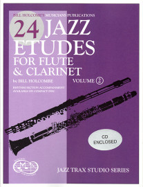 24 Jazz Etudes for Fl. & Cl. Volume 2, Book & CD